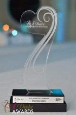 The iDate Award Trophy in Miami Beach at the January 24, 2012 Internet Dating Industry Awards