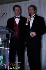 Mark Brooks and Marc Lesnick at the 2012 iDate Awards Ceremony