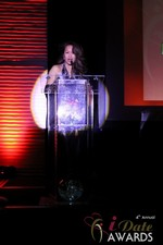 Carmelia Ray announcing Best Up and Coming Dating Site at the January 17, 2013 Internet Dating Industry Awards Ceremony in Las Vegas
