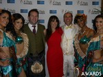 Michael O'Sullivan and Julie Spira in Las Vegas at the January 15, 2015 Internet Dating Industry Awards