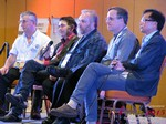 Panel on Online Dating Fraud and Scam Methods - Dave Wiseman, Michael McQuown, Wayne May, Alex Kirkpatrick and Brandon Wade at the January 20-22, 2015 Internet Dating Super Conference in Las Vegas