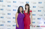 Damona Hoffman and Julie Spira  in Miami at the January 26, 2016 Internet Dating Industry Awards