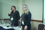 Genevieve Zawada and Arlene Vasquez reporting on the 2016 State of Matchmaking in Europe and the U.K.  at the 2016 Londres Reino Unido & União Europeia Mobile and Internet Dating Expo and Convention